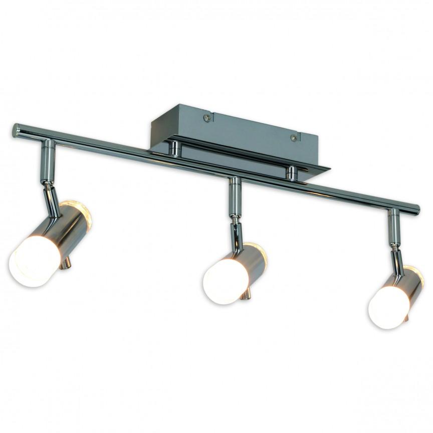 Plafoniera LED moderna cu 3 spoturi directionabile Garda 1236042 NV, Spoturi - iluminat - cu 3 spoturi, Corpuri de iluminat, lustre, aplice, veioze, lampadare, plafoniere. Mobilier si decoratiuni, oglinzi, scaune, fotolii. Oferte speciale iluminat interior si exterior. Livram in toata tara.  a