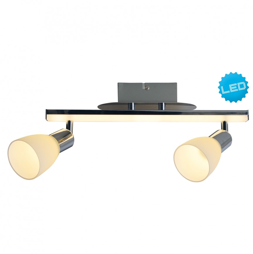 Plafoniera LED moderna cu 2 spoturi directionabile Ibiza 1233142 NV, Spoturi - iluminat - cu 2 spoturi, Corpuri de iluminat, lustre, aplice, veioze, lampadare, plafoniere. Mobilier si decoratiuni, oglinzi, scaune, fotolii. Oferte speciale iluminat interior si exterior. Livram in toata tara.  a