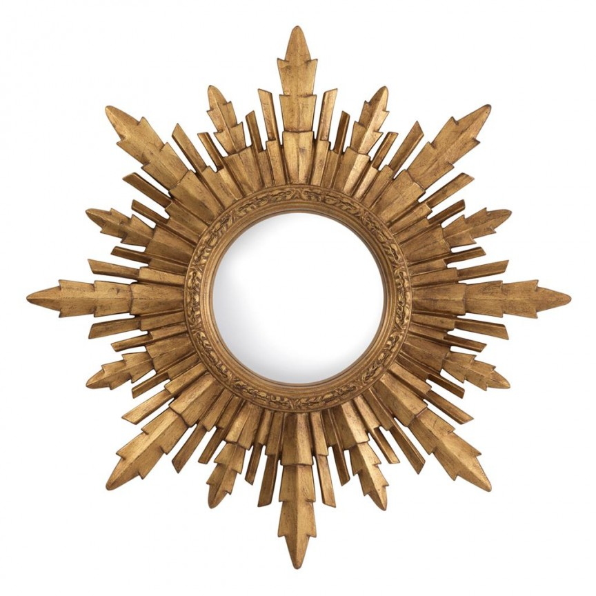 Oglinda decorativa LUX Bahia diam.70cm auriu finisaj antic 112838 HZ, Oglinzi decorative, Corpuri de iluminat, lustre, aplice, veioze, lampadare, plafoniere. Mobilier si decoratiuni, oglinzi, scaune, fotolii. Oferte speciale iluminat interior si exterior. Livram in toata tara.  a