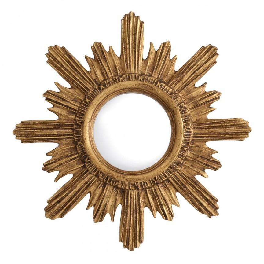 Oglinda decorativa LUX Zerzura diam.41cm auriu finisaj antic 112841 HZ, Oglinzi decorative, Corpuri de iluminat, lustre, aplice, veioze, lampadare, plafoniere. Mobilier si decoratiuni, oglinzi, scaune, fotolii. Oferte speciale iluminat interior si exterior. Livram in toata tara.  a