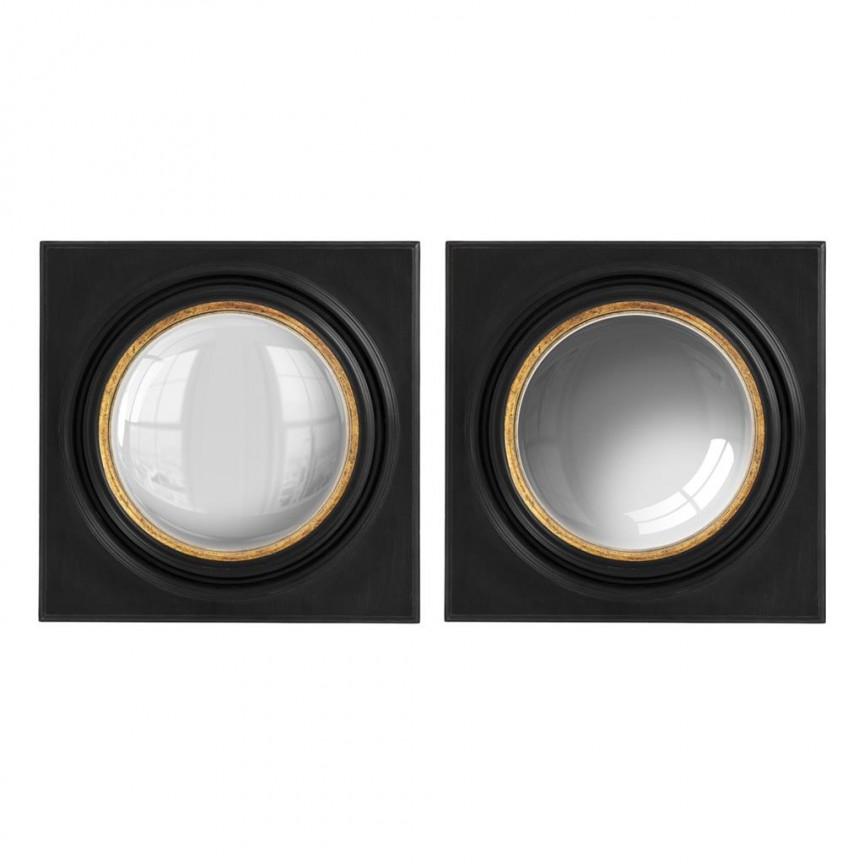 Set 2 oglinzi design LUX Mira 78x78cm 112428 HZ, Oglinzi decorative, Corpuri de iluminat, lustre, aplice, veioze, lampadare, plafoniere. Mobilier si decoratiuni, oglinzi, scaune, fotolii. Oferte speciale iluminat interior si exterior. Livram in toata tara.  a
