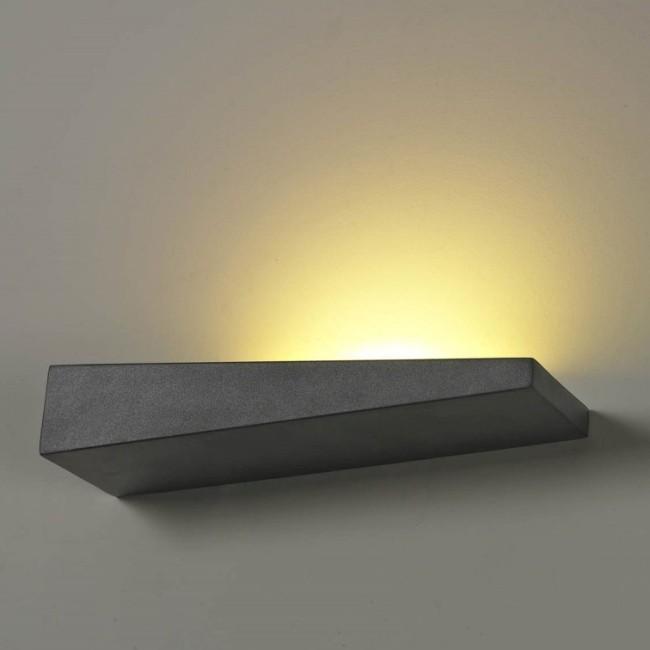 Aplica perete LED ambientala moderna Vialetto R Black, Aplice de perete LED, Corpuri de iluminat, lustre, aplice, veioze, lampadare, plafoniere. Mobilier si decoratiuni, oglinzi, scaune, fotolii. Oferte speciale iluminat interior si exterior. Livram in toata tara.  a