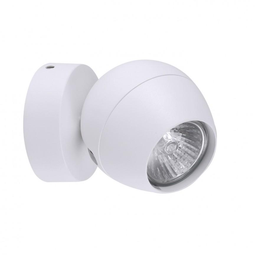 Aplica perete / tavan design modern PERA 1 white, Spoturi - iluminat - cu 1 spot, Corpuri de iluminat, lustre, aplice, veioze, lampadare, plafoniere. Mobilier si decoratiuni, oglinzi, scaune, fotolii. Oferte speciale iluminat interior si exterior. Livram in toata tara.  a