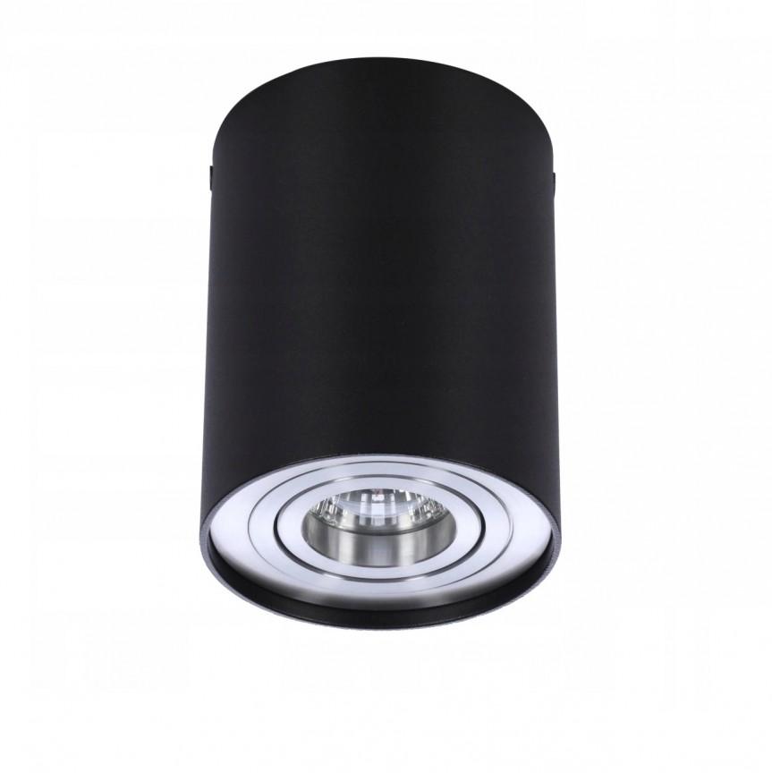 Spot aplicat tavan/plafon stil modern Bross 1 Black/Alu, PROMOTII,  a