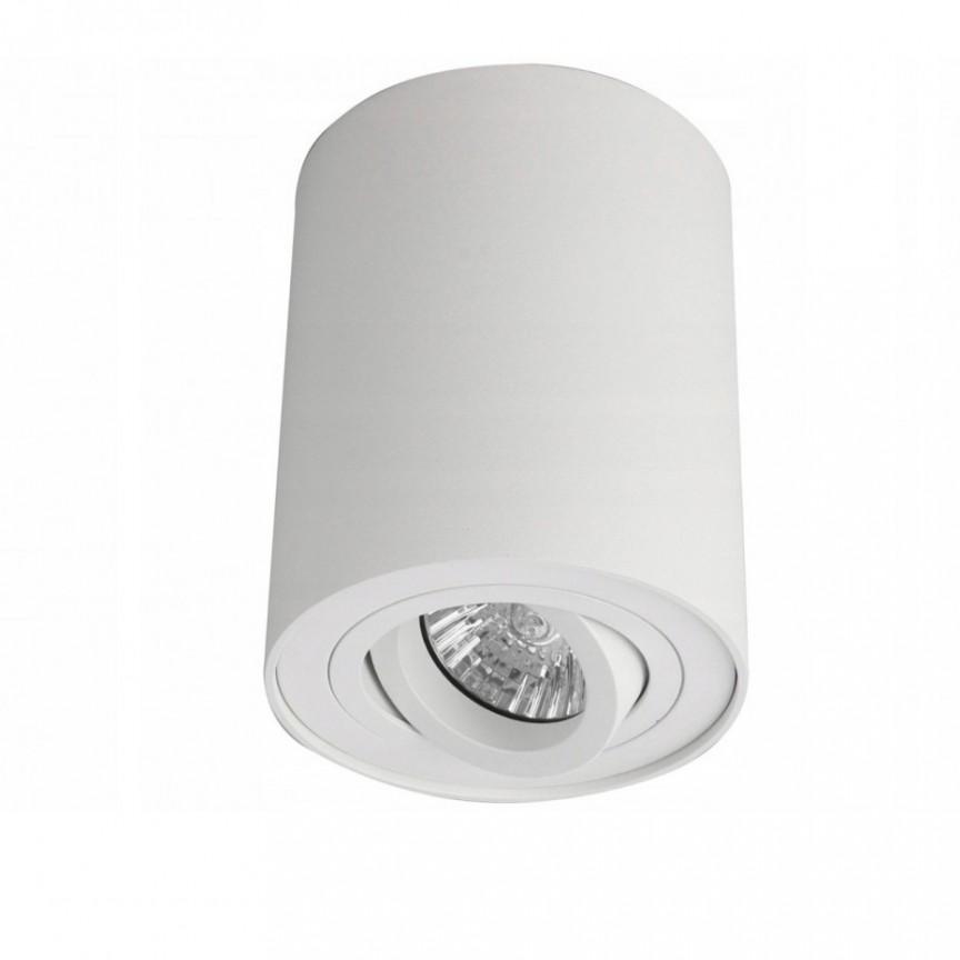 Spot aplicat tavan/plafon stil modern Bross 1 White, Promotii si Reduceri⭐ Oferte ✅Corpuri de iluminat ✅Lustre ✅Mobila ✅Decoratiuni de interior si exterior.⭕Pret redus online➜Lichidari de stoc❗ Magazin ➽ www.evalight.ro. a
