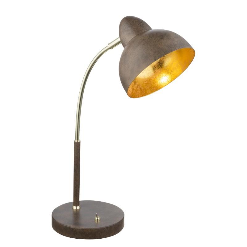 Veioza / Lampa de birou design ruginiu rustic ANITA 24703R GL, Veioze, Corpuri de iluminat, lustre, aplice, veioze, lampadare, plafoniere. Mobilier si decoratiuni, oglinzi, scaune, fotolii. Oferte speciale iluminat interior si exterior. Livram in toata tara.  a