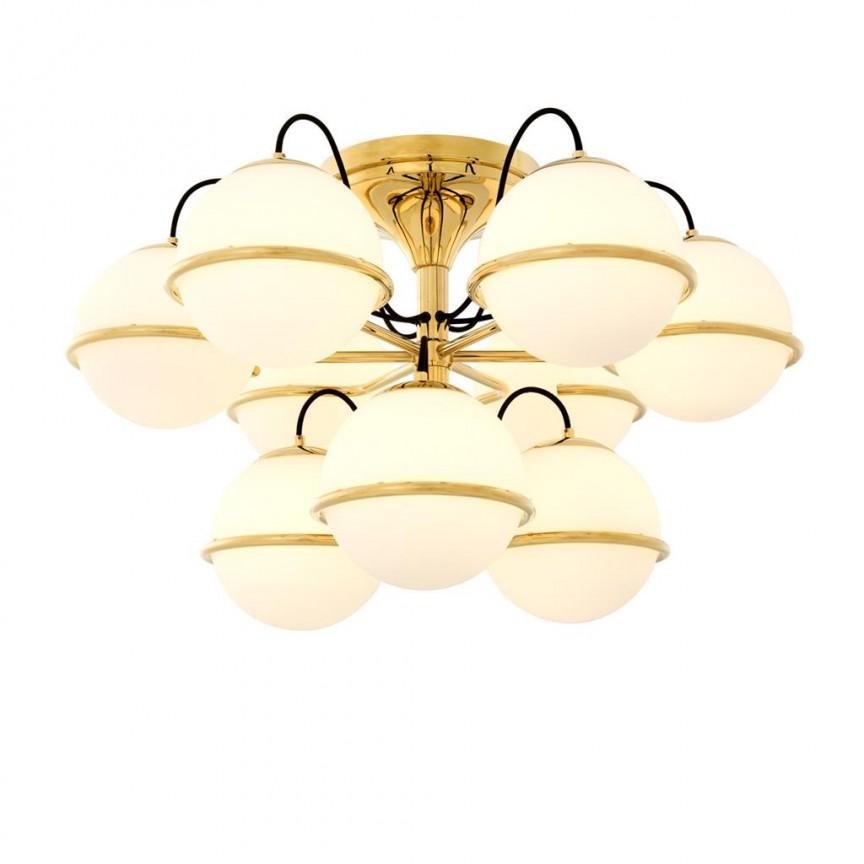 Lustra design LUX Nerano auriu 112740 HZ, Lustre moderne aplicate, Corpuri de iluminat, lustre, aplice, veioze, lampadare, plafoniere. Mobilier si decoratiuni, oglinzi, scaune, fotolii. Oferte speciale iluminat interior si exterior. Livram in toata tara.  a