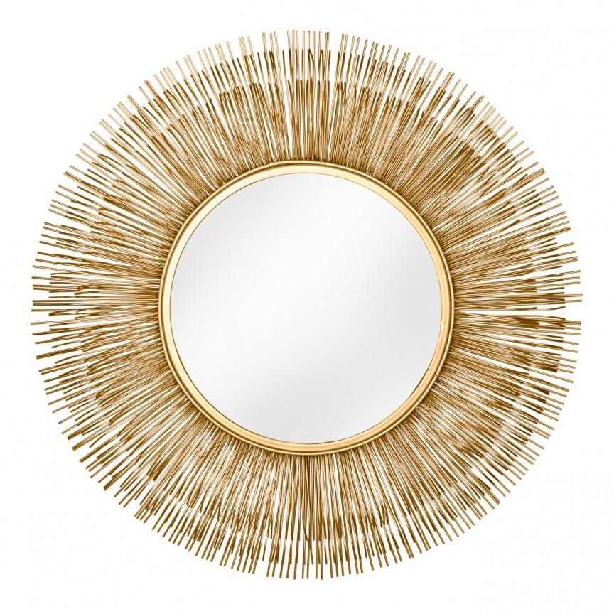 Oglinda decorativa design unicat Sunlight L gold, 88cm A-38726 VC, Oglinzi decorative, Corpuri de iluminat, lustre, aplice, veioze, lampadare, plafoniere. Mobilier si decoratiuni, oglinzi, scaune, fotolii. Oferte speciale iluminat interior si exterior. Livram in toata tara.  a