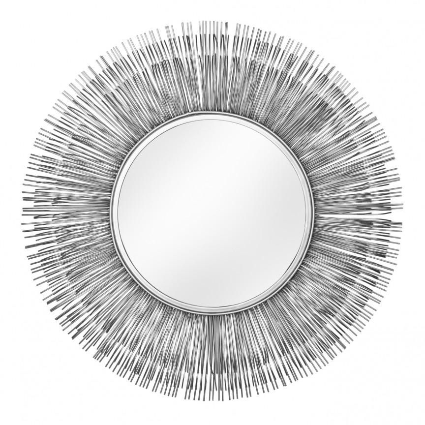 Oglinda decorativa design unicat Sunlight L silber, 88cm A-38745 VC, Oglinzi decorative, Corpuri de iluminat, lustre, aplice, veioze, lampadare, plafoniere. Mobilier si decoratiuni, oglinzi, scaune, fotolii. Oferte speciale iluminat interior si exterior. Livram in toata tara.  a