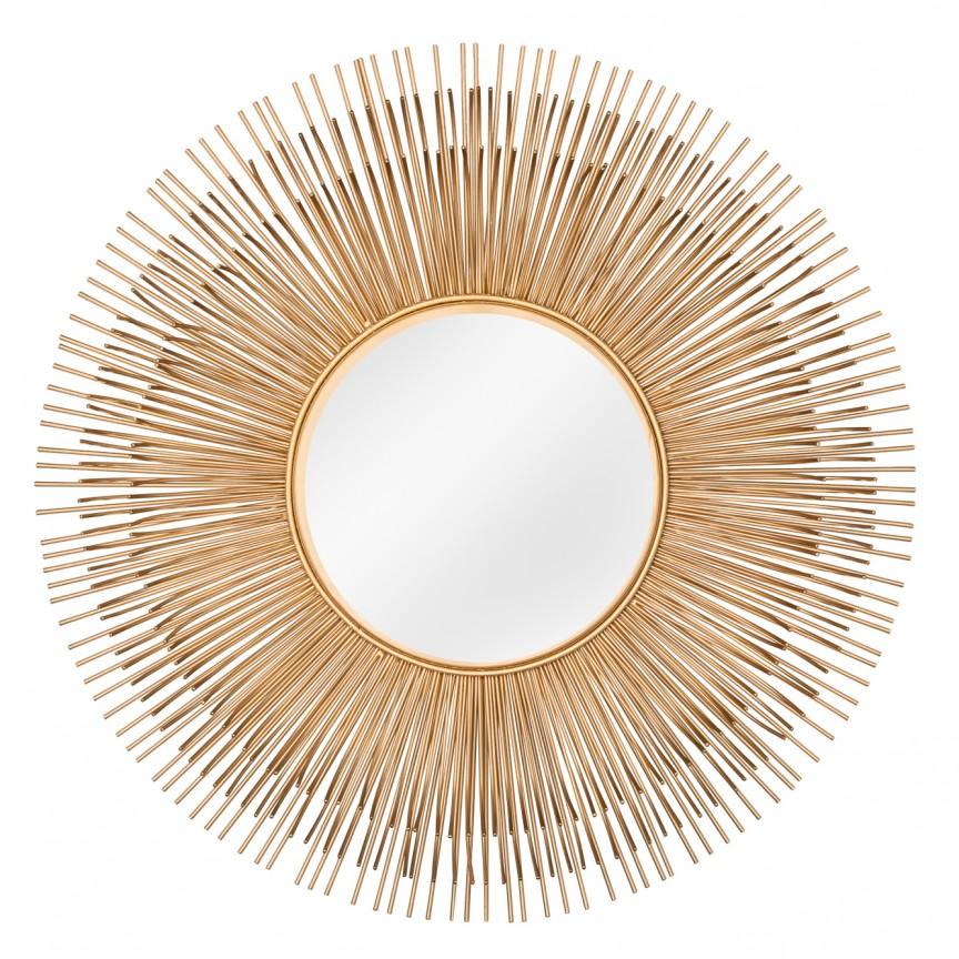 Oglinda decorativa design unicat Sunlight M gold, 61cm A-38739 VC, Oglinzi decorative, Corpuri de iluminat, lustre, aplice, veioze, lampadare, plafoniere. Mobilier si decoratiuni, oglinzi, scaune, fotolii. Oferte speciale iluminat interior si exterior. Livram in toata tara.  a