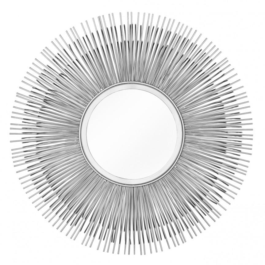 Oglinda decorativa design unicat Sunlight M silber, 61cm A-38747 VC, Oglinzi decorative, Corpuri de iluminat, lustre, aplice, veioze, lampadare, plafoniere. Mobilier si decoratiuni, oglinzi, scaune, fotolii. Oferte speciale iluminat interior si exterior. Livram in toata tara.  a