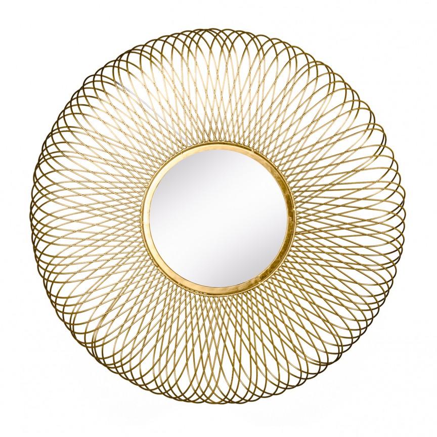 Oglinda decorativa design unicat Infinity L gold, 79cm A-38740 VC, Oglinzi decorative, Corpuri de iluminat, lustre, aplice, veioze, lampadare, plafoniere. Mobilier si decoratiuni, oglinzi, scaune, fotolii. Oferte speciale iluminat interior si exterior. Livram in toata tara.  a
