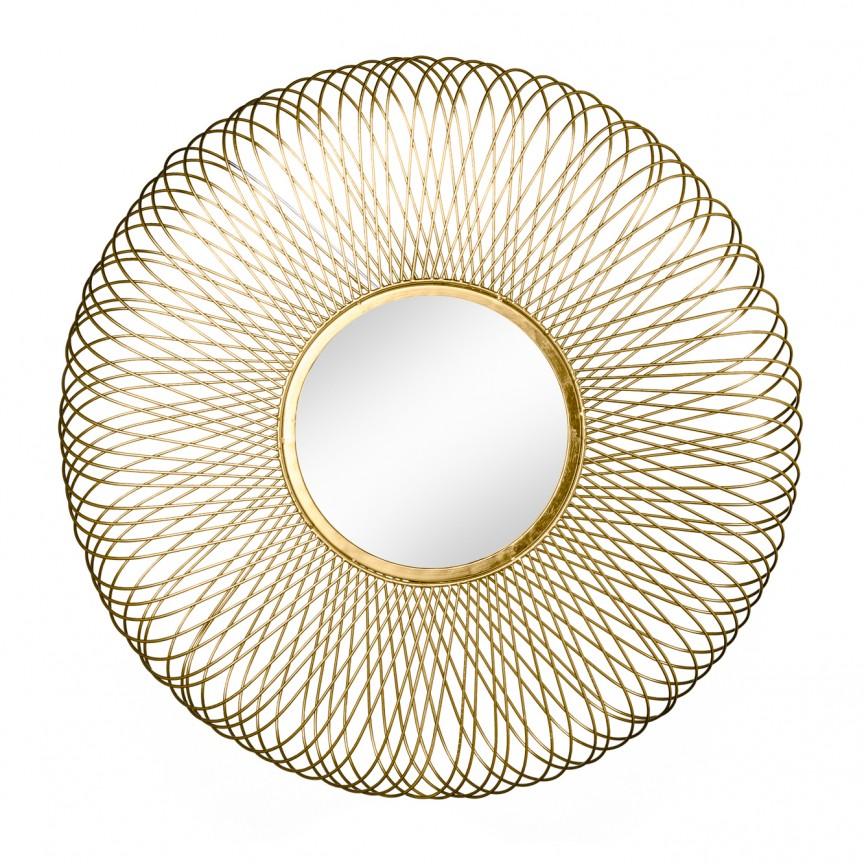 Oglinda decorativa design unicat Infinity M gold, 62cm A-38741 VC, Oglinzi decorative, Corpuri de iluminat, lustre, aplice, veioze, lampadare, plafoniere. Mobilier si decoratiuni, oglinzi, scaune, fotolii. Oferte speciale iluminat interior si exterior. Livram in toata tara.  a