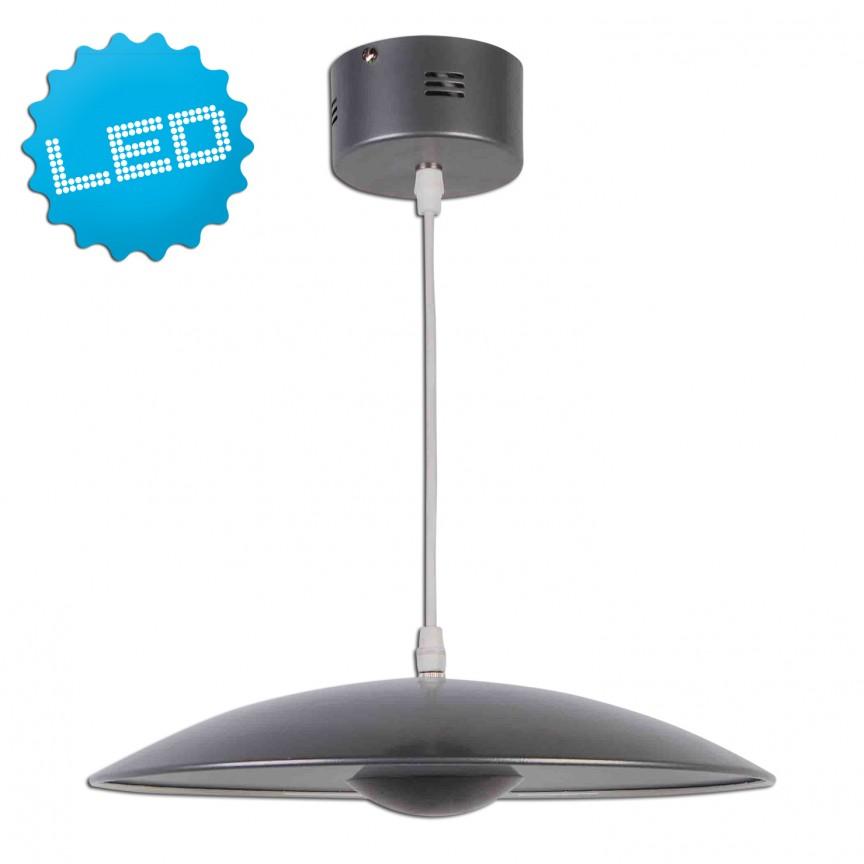 Lustra LED design modern Oslo, argintiu 7059459 NV, Lustre LED, Pendule LED, Corpuri de iluminat, lustre, aplice, veioze, lampadare, plafoniere. Mobilier si decoratiuni, oglinzi, scaune, fotolii. Oferte speciale iluminat interior si exterior. Livram in toata tara.  a