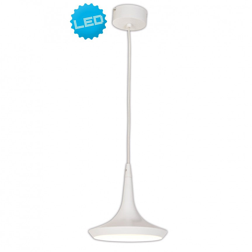 Lustra LED design modern Oslo, alb 7042323 NV, Lustre LED, Pendule LED, Corpuri de iluminat, lustre, aplice, veioze, lampadare, plafoniere. Mobilier si decoratiuni, oglinzi, scaune, fotolii. Oferte speciale iluminat interior si exterior. Livram in toata tara.  a