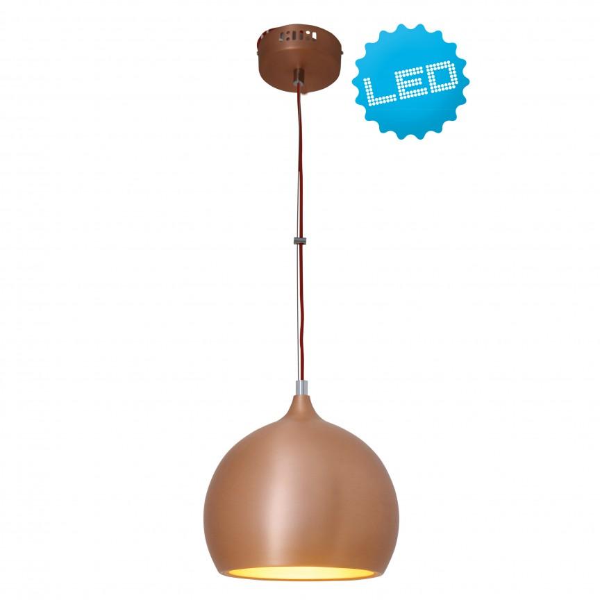 Lustra LED design modern Cusco, cupru 7060747 NV, Lustre LED, Pendule LED, Corpuri de iluminat, lustre, aplice, veioze, lampadare, plafoniere. Mobilier si decoratiuni, oglinzi, scaune, fotolii. Oferte speciale iluminat interior si exterior. Livram in toata tara.  a