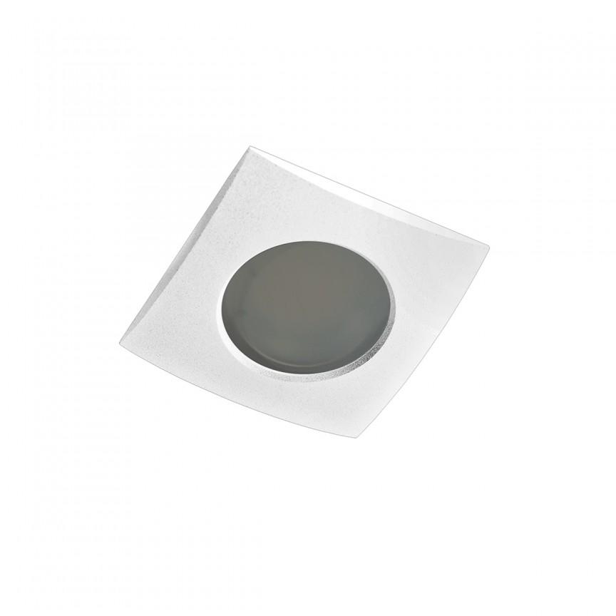 Spot pentru baie incastrabil Ezio 1 alb, Spoturi incastrate - tavan fals / perete, Corpuri de iluminat, lustre, aplice, veioze, lampadare, plafoniere. Mobilier si decoratiuni, oglinzi, scaune, fotolii. Oferte speciale iluminat interior si exterior. Livram in toata tara.  a