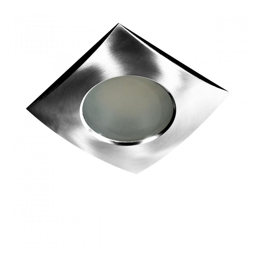 Spot pentru baie incastrabil Ezio 1 crom, Plafoniere cu protectie pentru baie, Corpuri de iluminat, lustre, aplice, veioze, lampadare, plafoniere. Mobilier si decoratiuni, oglinzi, scaune, fotolii. Oferte speciale iluminat interior si exterior. Livram in toata tara.  a