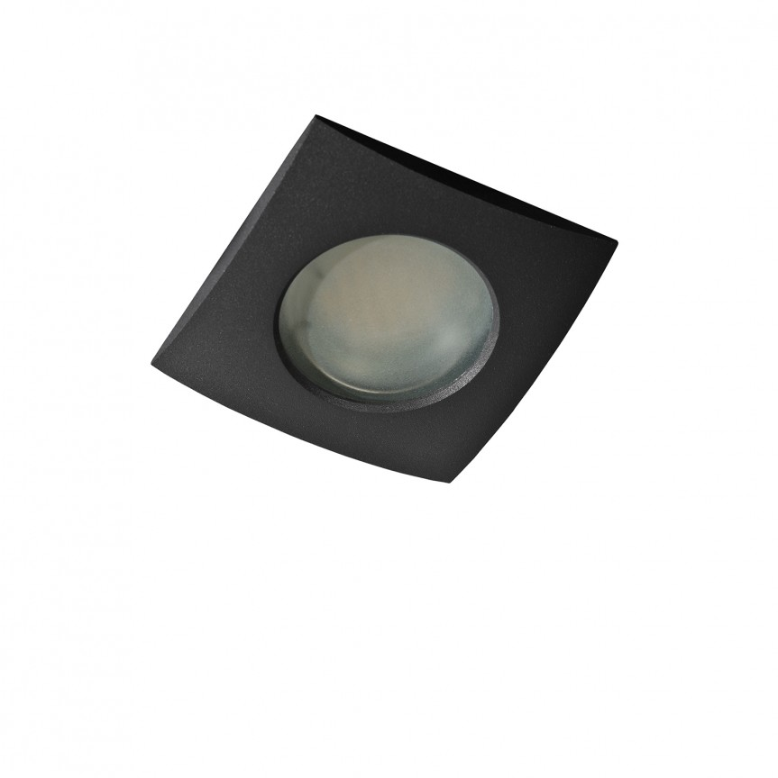 Spot pentru baie incastrabil Ezio 1 negru, Plafoniere cu protectie pentru baie, Corpuri de iluminat, lustre, aplice, veioze, lampadare, plafoniere. Mobilier si decoratiuni, oglinzi, scaune, fotolii. Oferte speciale iluminat interior si exterior. Livram in toata tara.  a