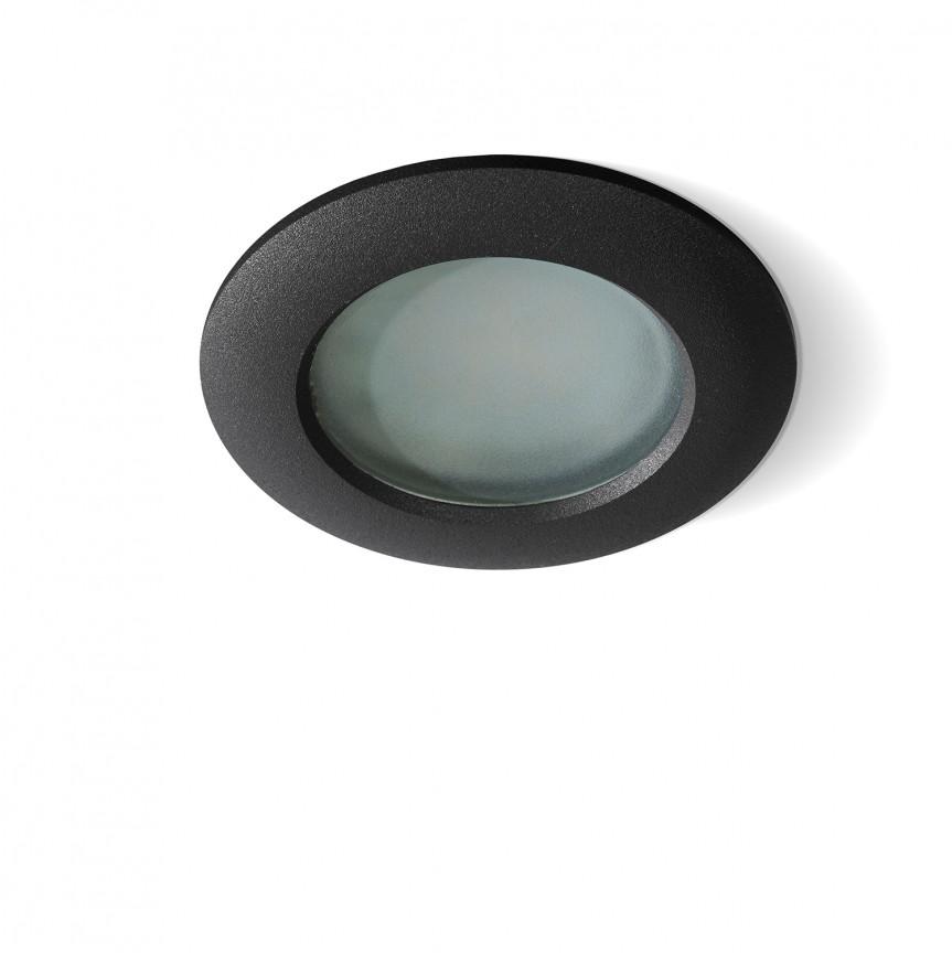 Spot pentru baie incastrabil Emilio 1 negru, Spoturi incastrate - tavan fals / perete, Corpuri de iluminat, lustre, aplice, veioze, lampadare, plafoniere. Mobilier si decoratiuni, oglinzi, scaune, fotolii. Oferte speciale iluminat interior si exterior. Livram in toata tara.  a