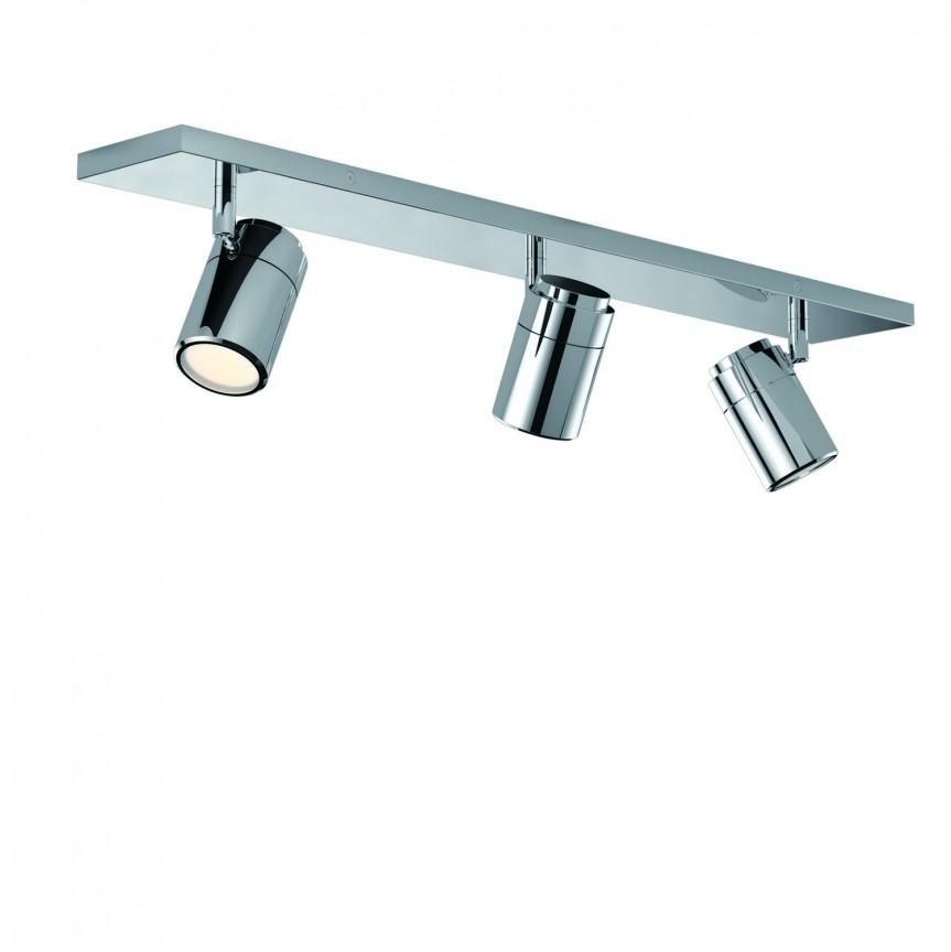 Plafoniera cu 3 Spoturi directionabile pentru baie NOEMIE, Plafoniere cu protectie pentru baie, Corpuri de iluminat, lustre, aplice, veioze, lampadare, plafoniere. Mobilier si decoratiuni, oglinzi, scaune, fotolii. Oferte speciale iluminat interior si exterior. Livram in toata tara.  a