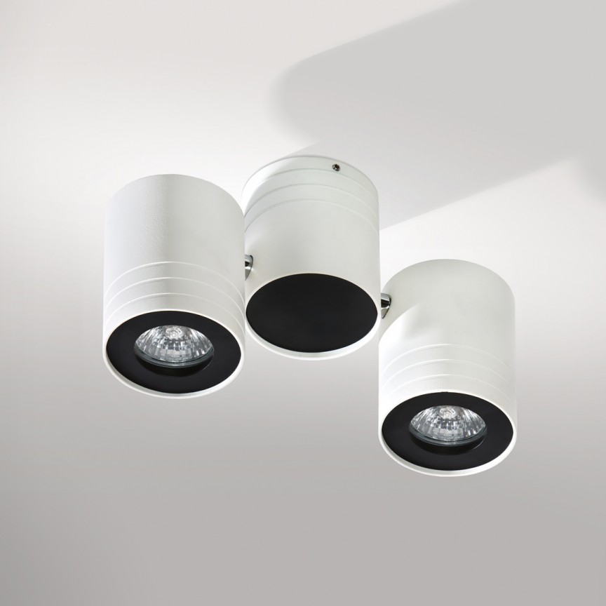 Plafoniera cu spoturi directionabile tavan/plafon Lalo 2, Spoturi aplicate - tavan / perete, Corpuri de iluminat, lustre, aplice, veioze, lampadare, plafoniere. Mobilier si decoratiuni, oglinzi, scaune, fotolii. Oferte speciale iluminat interior si exterior. Livram in toata tara.  a
