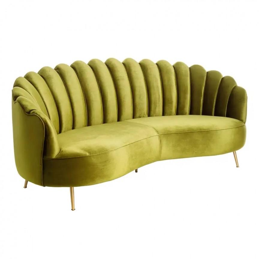 Canapea fixa design modern Look, catifea verde DZ-107962, Canapele - Coltare, Corpuri de iluminat, lustre, aplice, veioze, lampadare, plafoniere. Mobilier si decoratiuni, oglinzi, scaune, fotolii. Oferte speciale iluminat interior si exterior. Livram in toata tara.  a