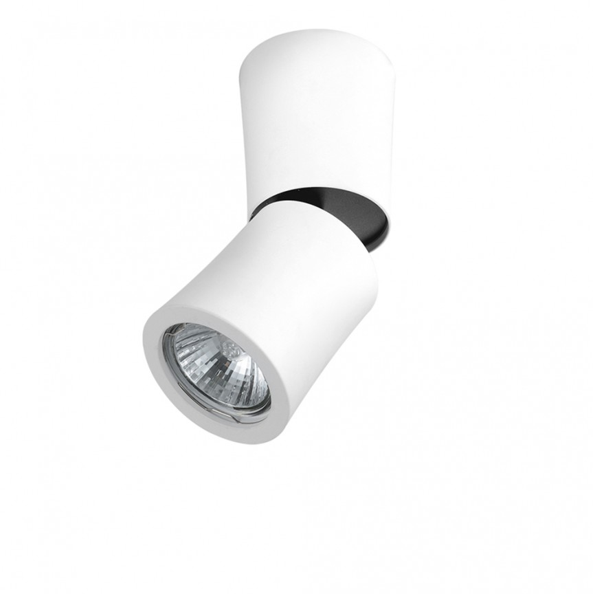 Spot modern directionabil aplicat tavan/plafon LINO alb, Spoturi aplicate - tavan / perete, Corpuri de iluminat, lustre, aplice, veioze, lampadare, plafoniere. Mobilier si decoratiuni, oglinzi, scaune, fotolii. Oferte speciale iluminat interior si exterior. Livram in toata tara.  a