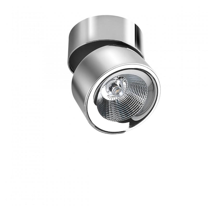Spot LED modern aplicat tavan/plafon SCORPIO crom, Spoturi aplicate - tavan / perete, Corpuri de iluminat, lustre, aplice, veioze, lampadare, plafoniere. Mobilier si decoratiuni, oglinzi, scaune, fotolii. Oferte speciale iluminat interior si exterior. Livram in toata tara.  a