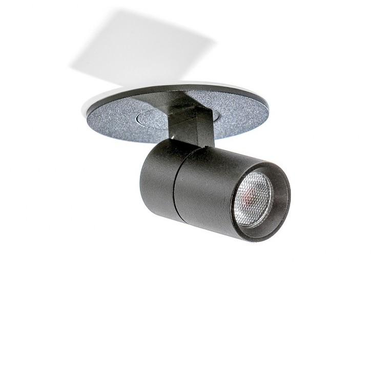Spot LED incastrabil, directionabil pentru tavan/plafon LINA negru, Spoturi incastrate - tavan fals / perete, Corpuri de iluminat, lustre, aplice, veioze, lampadare, plafoniere. Mobilier si decoratiuni, oglinzi, scaune, fotolii. Oferte speciale iluminat interior si exterior. Livram in toata tara.  a