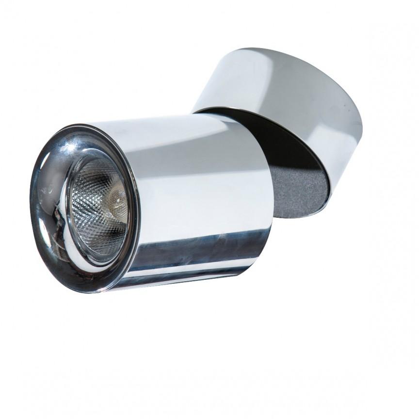 Spot LED aplicat, directionabil pentru tavan/plafon SIENA 10W 3000K crom, Spoturi aplicate - tavan / perete, Corpuri de iluminat, lustre, aplice, veioze, lampadare, plafoniere. Mobilier si decoratiuni, oglinzi, scaune, fotolii. Oferte speciale iluminat interior si exterior. Livram in toata tara.  a