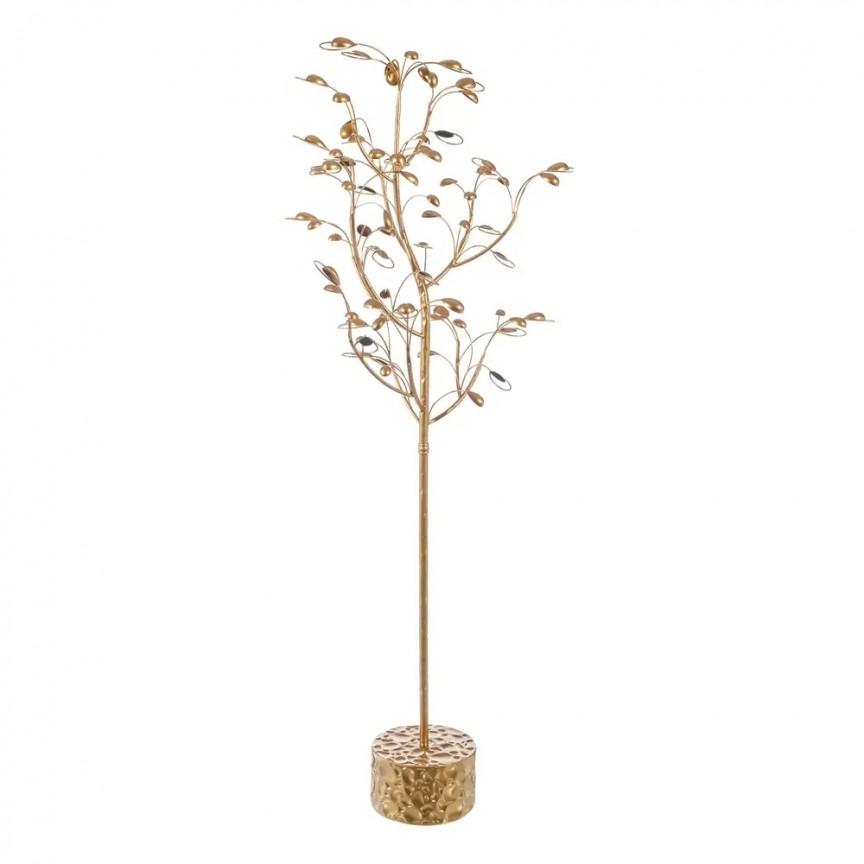 Pom decorativ din metal auriu FLORES ORO SX-108082, Aranjamente florale LUX, Corpuri de iluminat, lustre, aplice, veioze, lampadare, plafoniere. Mobilier si decoratiuni, oglinzi, scaune, fotolii. Oferte speciale iluminat interior si exterior. Livram in toata tara.  a