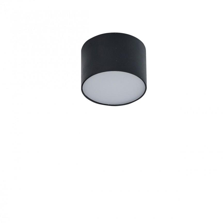 Spot LED aplicat MONZA R 8 3000K negru, Spoturi aplicate - tavan / perete, Corpuri de iluminat, lustre, aplice, veioze, lampadare, plafoniere. Mobilier si decoratiuni, oglinzi, scaune, fotolii. Oferte speciale iluminat interior si exterior. Livram in toata tara.  a