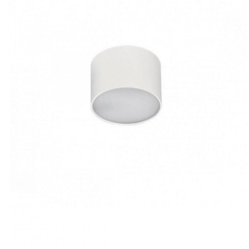 Spot LED aplicat MONZA R 8 4000K alb, Spoturi aplicate - tavan / perete, Corpuri de iluminat, lustre, aplice, veioze, lampadare, plafoniere. Mobilier si decoratiuni, oglinzi, scaune, fotolii. Oferte speciale iluminat interior si exterior. Livram in toata tara.  a