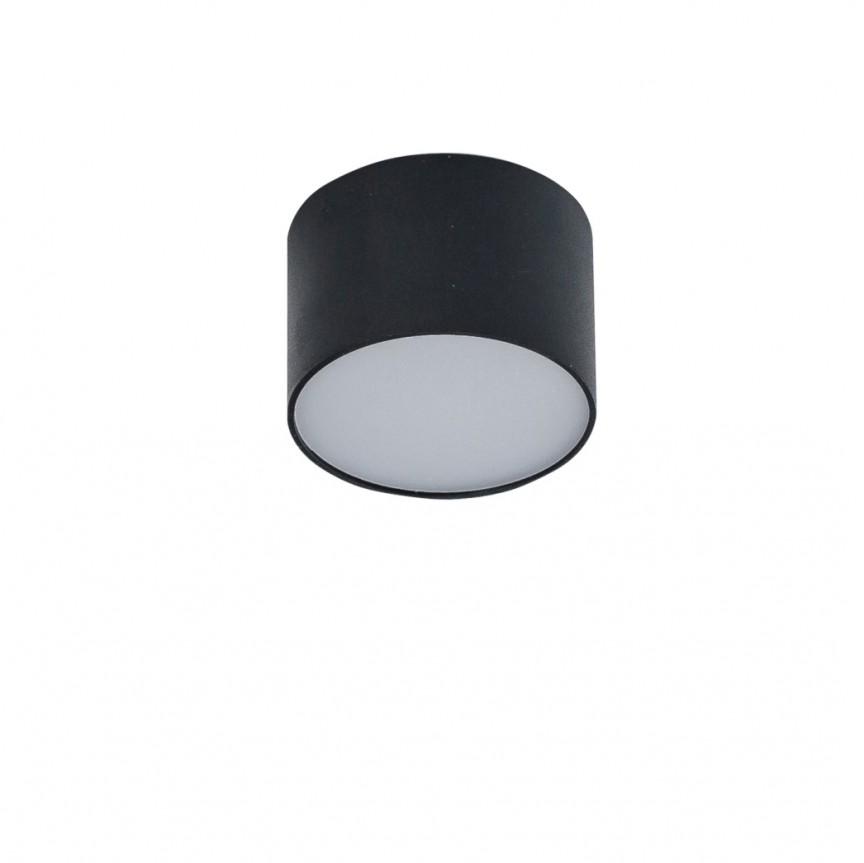 Spot LED aplicat MONZA R 12 3000K negru, Spoturi aplicate - tavan / perete, Corpuri de iluminat, lustre, aplice, veioze, lampadare, plafoniere. Mobilier si decoratiuni, oglinzi, scaune, fotolii. Oferte speciale iluminat interior si exterior. Livram in toata tara.  a