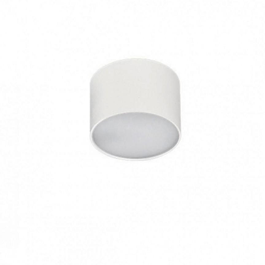 Spot LED aplicat MONZA R 12 4000K alb, Spoturi aplicate - tavan / perete, Corpuri de iluminat, lustre, aplice, veioze, lampadare, plafoniere. Mobilier si decoratiuni, oglinzi, scaune, fotolii. Oferte speciale iluminat interior si exterior. Livram in toata tara.  a
