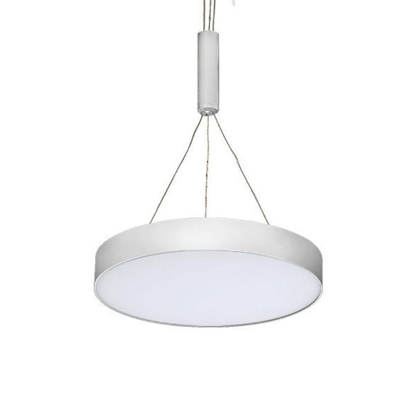 Lustra LED suspendata MONZA R 40 3000K alba, Lustre LED, Pendule LED, Corpuri de iluminat, lustre, aplice, veioze, lampadare, plafoniere. Mobilier si decoratiuni, oglinzi, scaune, fotolii. Oferte speciale iluminat interior si exterior. Livram in toata tara.  a