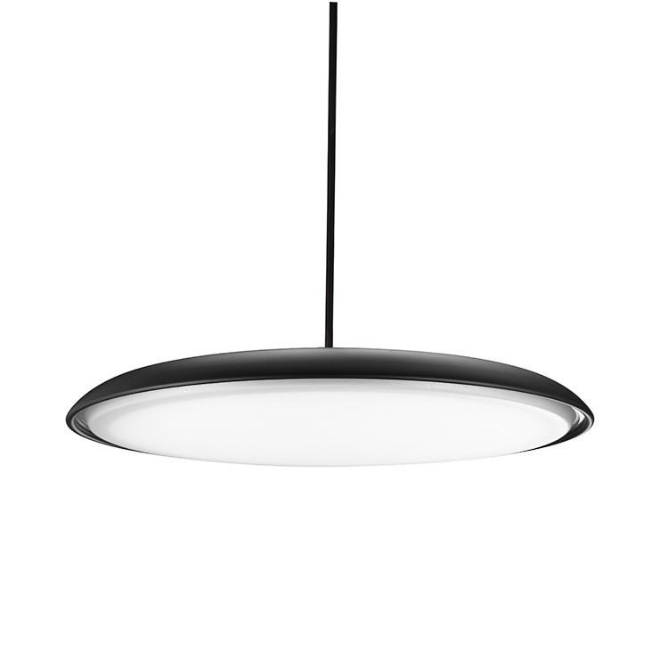 Lustra LED suspendata SATURNIA 40 neagra 3000K, Lustre LED, Pendule LED, Corpuri de iluminat, lustre, aplice, veioze, lampadare, plafoniere. Mobilier si decoratiuni, oglinzi, scaune, fotolii. Oferte speciale iluminat interior si exterior. Livram in toata tara.  a