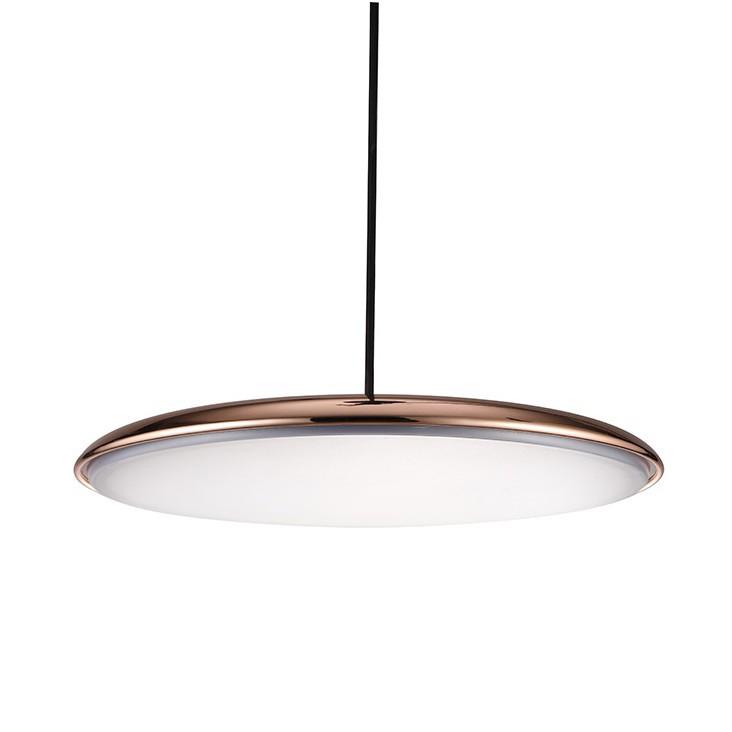Lustra LED suspendata SATURNIA 40 cupru 3000K, Lustre LED, Pendule LED, Corpuri de iluminat, lustre, aplice, veioze, lampadare, plafoniere. Mobilier si decoratiuni, oglinzi, scaune, fotolii. Oferte speciale iluminat interior si exterior. Livram in toata tara.  a