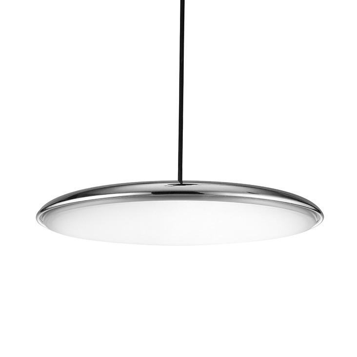 Lustra LED suspendata SATURNIA 40 crom 3000K, Lustre LED, Pendule LED, Corpuri de iluminat, lustre, aplice, veioze, lampadare, plafoniere. Mobilier si decoratiuni, oglinzi, scaune, fotolii. Oferte speciale iluminat interior si exterior. Livram in toata tara.  a