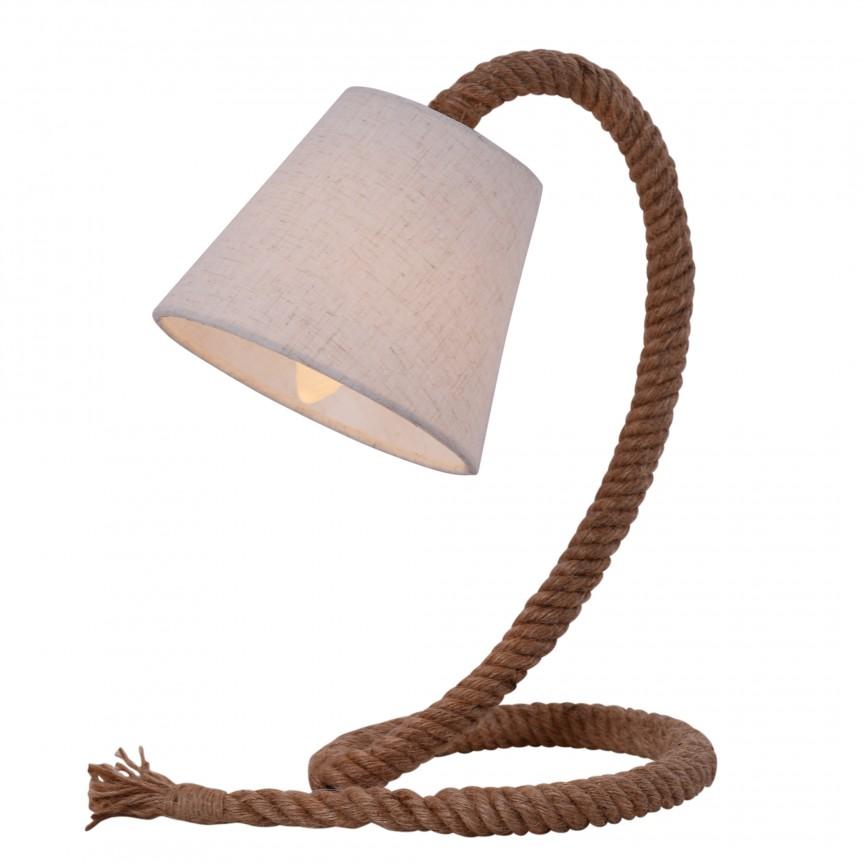 Veioza design retro Rope 3164627 NV, Veioze, Corpuri de iluminat, lustre, aplice, veioze, lampadare, plafoniere. Mobilier si decoratiuni, oglinzi, scaune, fotolii. Oferte speciale iluminat interior si exterior. Livram in toata tara.  a