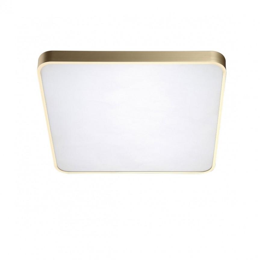 Lustra LED dimabila cu telecomanda de tavan/plafon Quadro 50 aurie, Lampi LED si Telecomanda, Corpuri de iluminat, lustre, aplice, veioze, lampadare, plafoniere. Mobilier si decoratiuni, oglinzi, scaune, fotolii. Oferte speciale iluminat interior si exterior. Livram in toata tara.  a