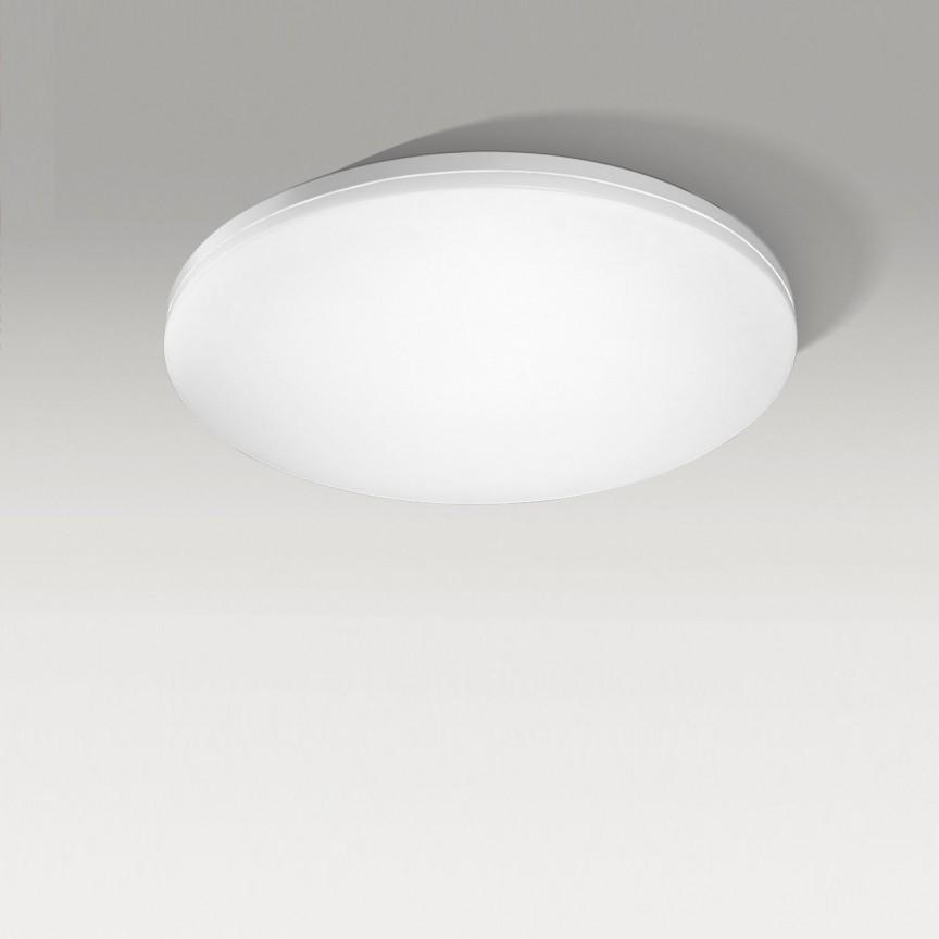 Lustra LED dimabila cu telecomanda de tavan/plafon SONA 47 alba, Lampi LED si Telecomanda, Corpuri de iluminat, lustre, aplice, veioze, lampadare, plafoniere. Mobilier si decoratiuni, oglinzi, scaune, fotolii. Oferte speciale iluminat interior si exterior. Livram in toata tara.  a