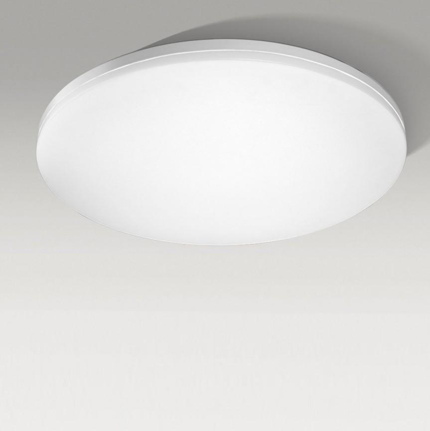 Lustra LED dimabila cu telecomanda de tavan/plafon SONA 55 alba, Lampi LED si Telecomanda, Corpuri de iluminat, lustre, aplice, veioze, lampadare, plafoniere. Mobilier si decoratiuni, oglinzi, scaune, fotolii. Oferte speciale iluminat interior si exterior. Livram in toata tara.  a