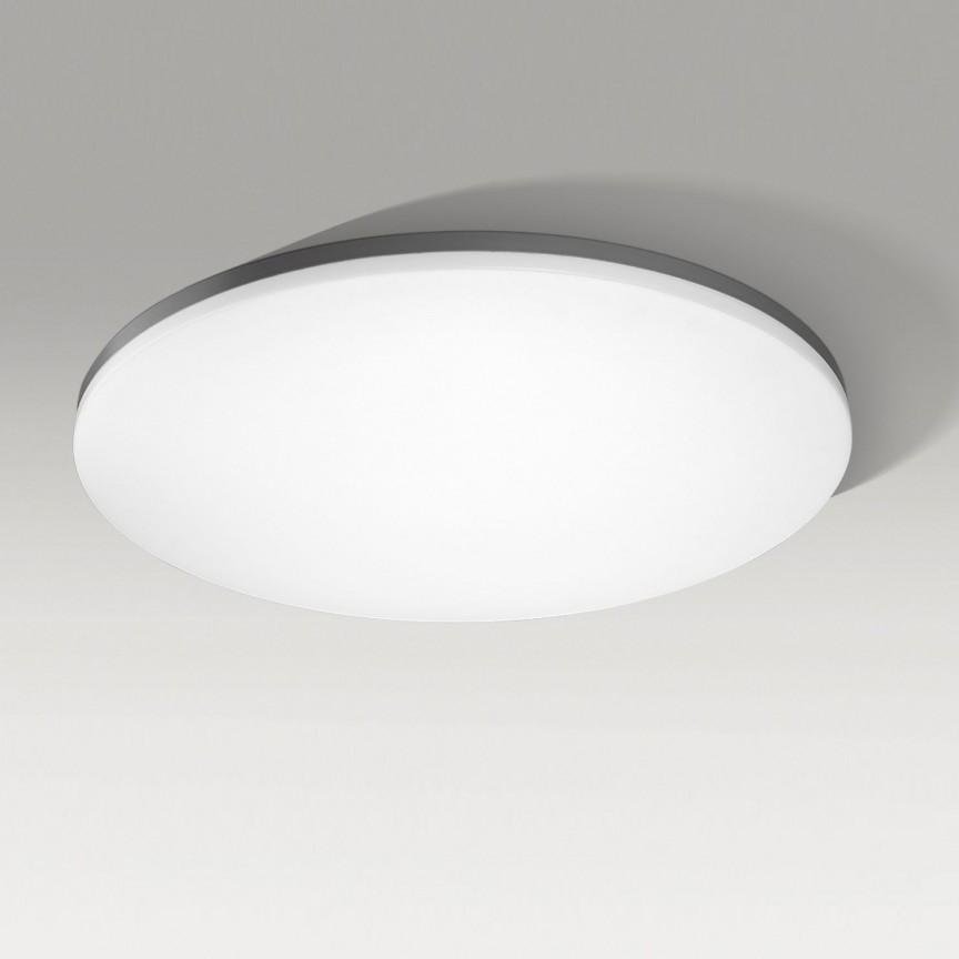 Lustra LED dimabila cu telecomanda de tavan/plafon SONA 55 neagra, Lampi LED si Telecomanda, Corpuri de iluminat, lustre, aplice, veioze, lampadare, plafoniere. Mobilier si decoratiuni, oglinzi, scaune, fotolii. Oferte speciale iluminat interior si exterior. Livram in toata tara.  a