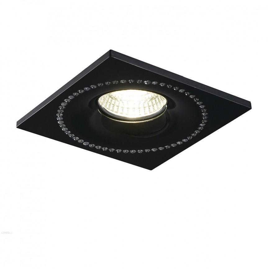 Spot incastrat tavan/plafon cu cristale SIMON SQUARE negru, CORPURI DE ILUMINAT INTERIOR MODERN, Corpuri de iluminat, lustre, aplice, veioze, lampadare, plafoniere. Mobilier si decoratiuni, oglinzi, scaune, fotolii. Oferte speciale iluminat interior si exterior. Livram in toata tara.  a