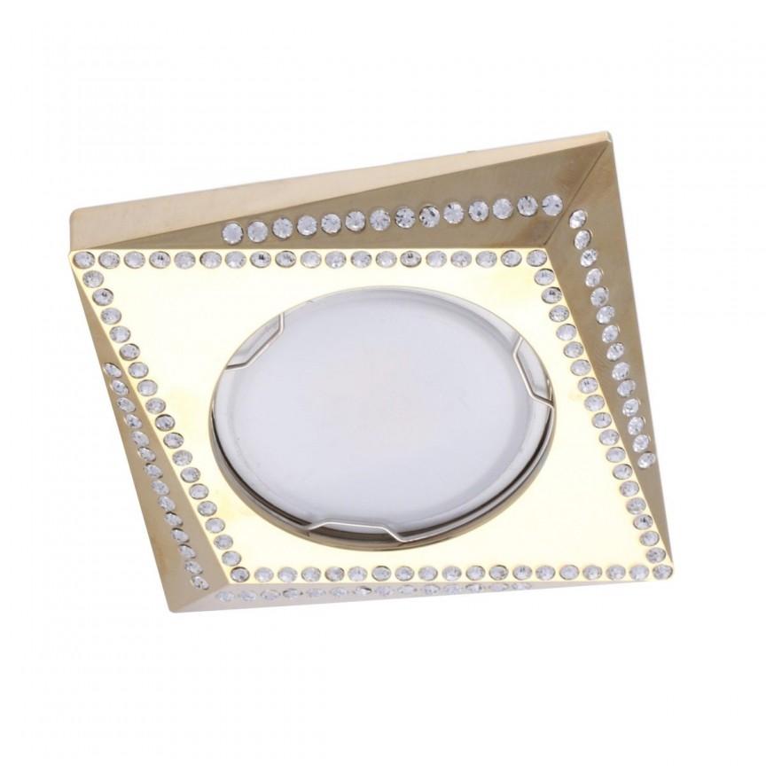 Spot incastrat tavan/plafon cu cristale MIRA auriu, CORPURI DE ILUMINAT INTERIOR MODERN, Corpuri de iluminat, lustre, aplice, veioze, lampadare, plafoniere. Mobilier si decoratiuni, oglinzi, scaune, fotolii. Oferte speciale iluminat interior si exterior. Livram in toata tara.  a
