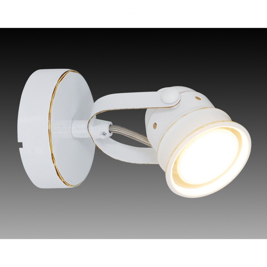 Aplica cu spot GU10 LED Shabspo 1222023 NV, Spoturi - iluminat - cu 1 spot, Corpuri de iluminat, lustre, aplice, veioze, lampadare, plafoniere. Mobilier si decoratiuni, oglinzi, scaune, fotolii. Oferte speciale iluminat interior si exterior. Livram in toata tara.  a