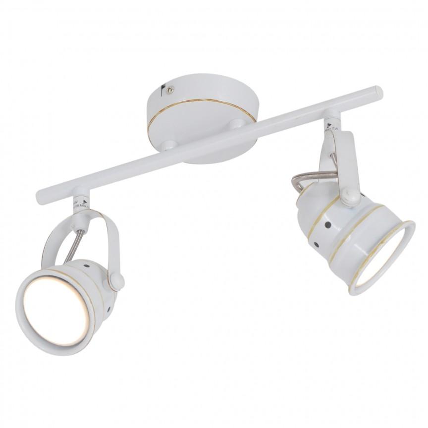 Lustra cu 2 spoturi GU10 LED Shabspo 1222123 NV, Spoturi - iluminat - cu 2 spoturi, Corpuri de iluminat, lustre, aplice, veioze, lampadare, plafoniere. Mobilier si decoratiuni, oglinzi, scaune, fotolii. Oferte speciale iluminat interior si exterior. Livram in toata tara.  a
