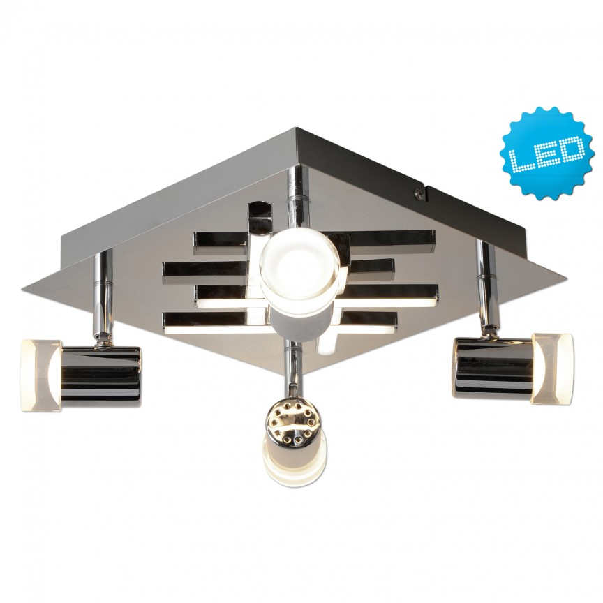 Plafoniera LED moderna cu 4 spoturi LED London 1227642 NV, Spoturi - iluminat - cu 4 spoturi, Corpuri de iluminat, lustre, aplice, veioze, lampadare, plafoniere. Mobilier si decoratiuni, oglinzi, scaune, fotolii. Oferte speciale iluminat interior si exterior. Livram in toata tara.  a
